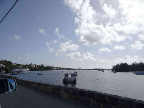 View of the water from Bermuda road, after Voyager completed the Marion to Bermuda sailing race in 2013.