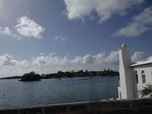 View of the water from Bermuda road after Voyager completed the Marion to Bermuda sailing race, 2013.