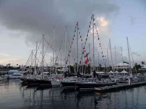 The competitors in Marion to Bermuda race 2013, safely arrived at the Royal Hamilton Amateur Dinghy Club, Bermuda.