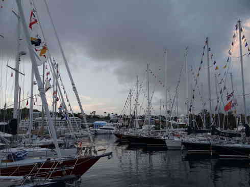 The competitors in Marion to Bermuda sailing race 2013, safely docked at the Royal Hamilton Amateur Dinghy Club, Bermuda.
