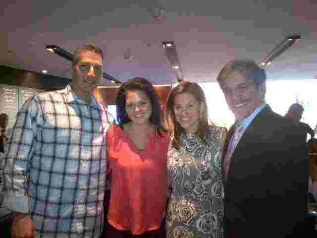 Geraldo, wife Erica with And and Laura Pettitte.