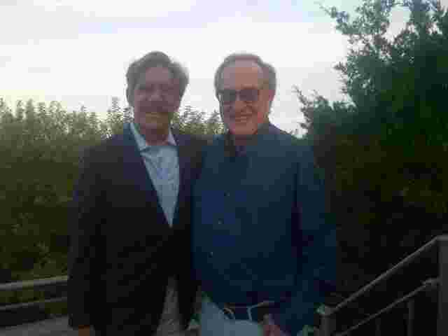 Geraldo with fellow lawyer and long time friend Alan Dershowitz.