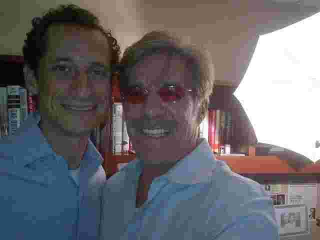 Geraldo with Anthony Weiner following an interview on his WABC radio show.