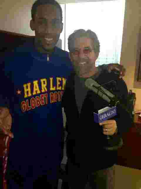 Geraldo does a 77 WABC radio interview with Bull Bullard from the Harlem Globetrotters.