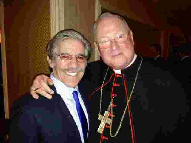 Geraldo with his Eminence Cardinal Timothy Dolan.