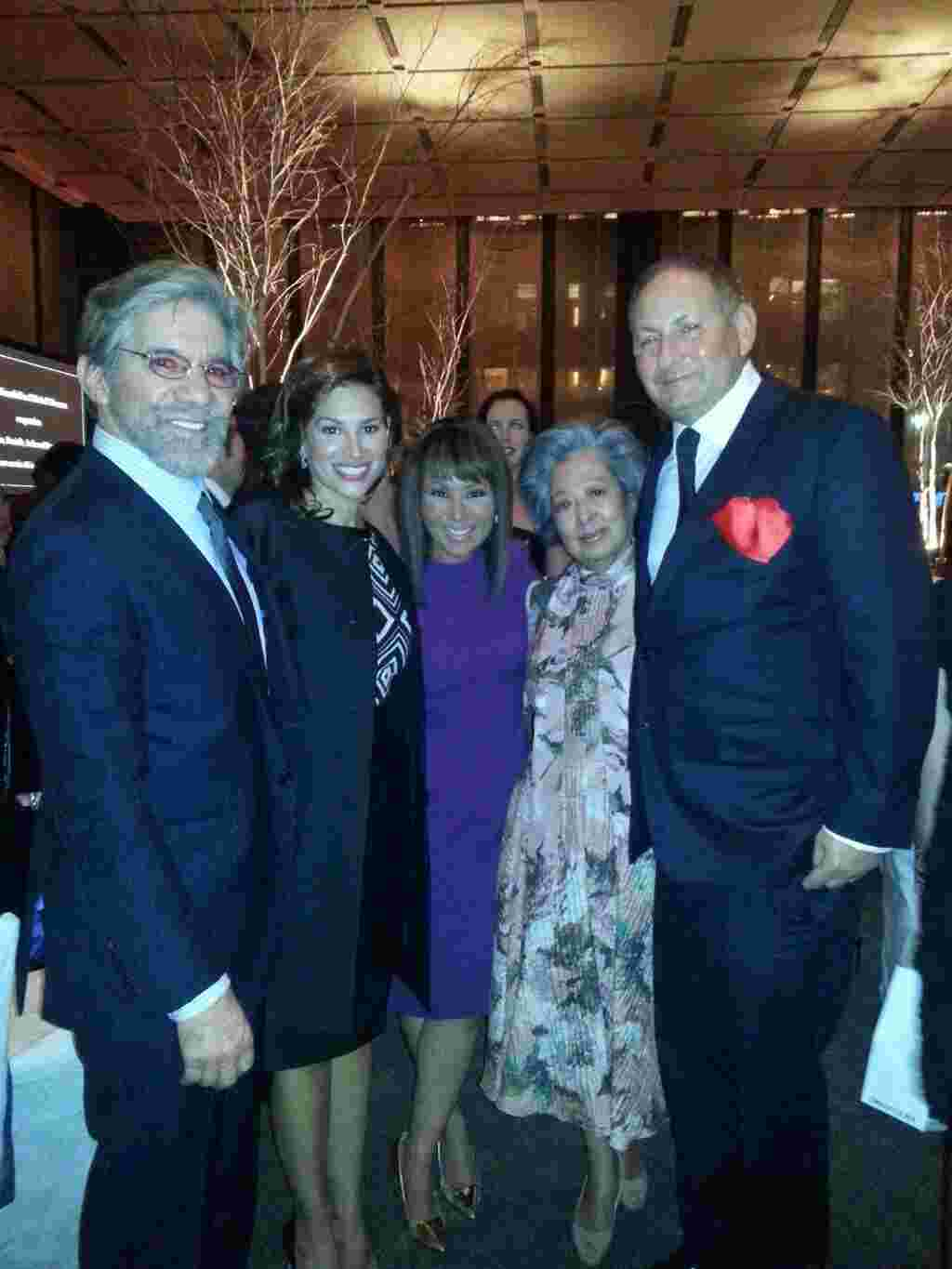 Geraldo with wife Erica friends Alina, Kim and John Dempsey.