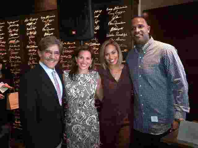 Geraldo with his wife Erica Rivera and friends Amber, CC Sabathia