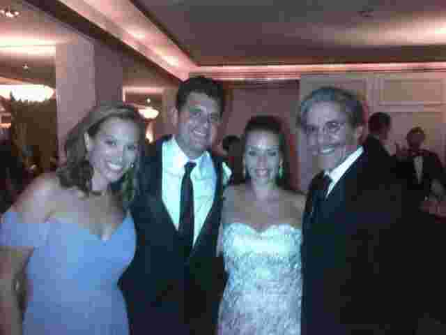 Geraldo and wife Erica at the wedding with Amy and Sebastion