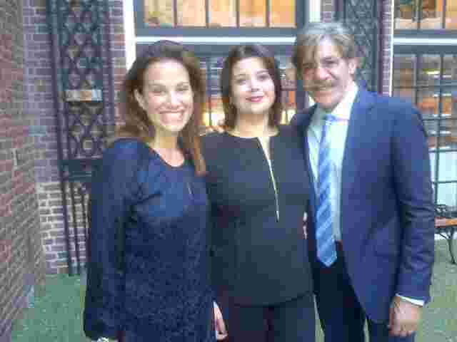 Geraldo with his wife Erica Rivera and Ana Navarro