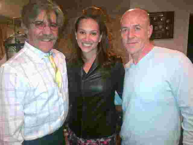 Geraldo, wife Erica with former NYC Police Commissioner Bernard Kerik.