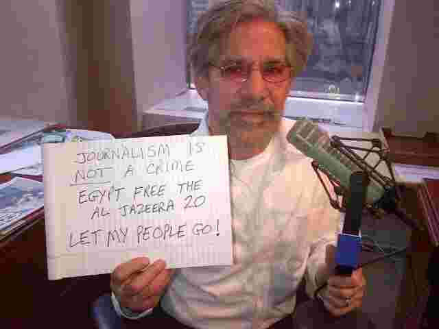Geraldo shows his support for the jailed journalists from Al Jazeera