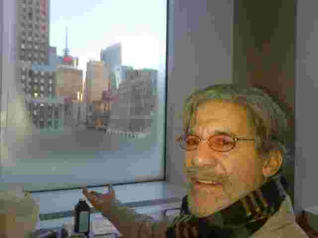 Geraldo's 77 WABC radio studio window is frozen during a brutal New York winter, 2014.