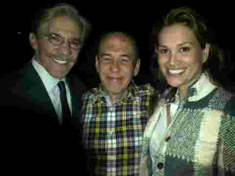 Geraldo, wife Erica with friend and fellow Celebrity Apprentice contestant Gilbert Gottfried.