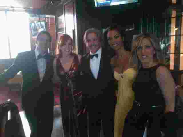 Geraldo with fellow Fox News personalities Bill Hemmer, Liz Claman, Harrison Faulkner and Allisyn Camerotta.