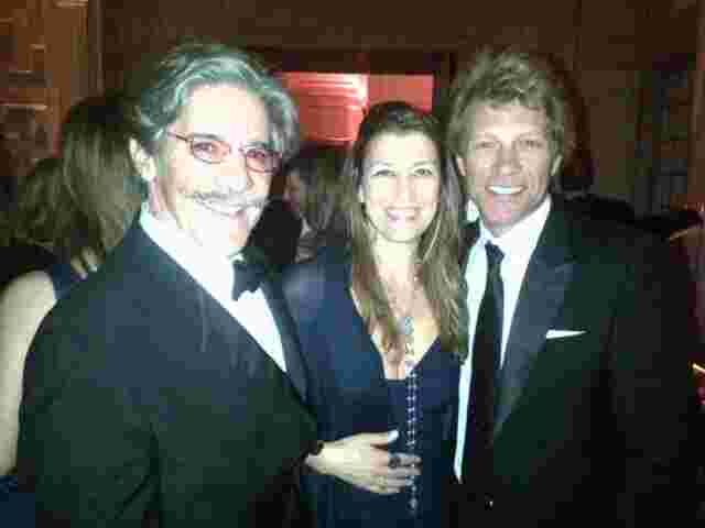 Geraldo takes a moment with Jon Bon Jovi and his wife.
