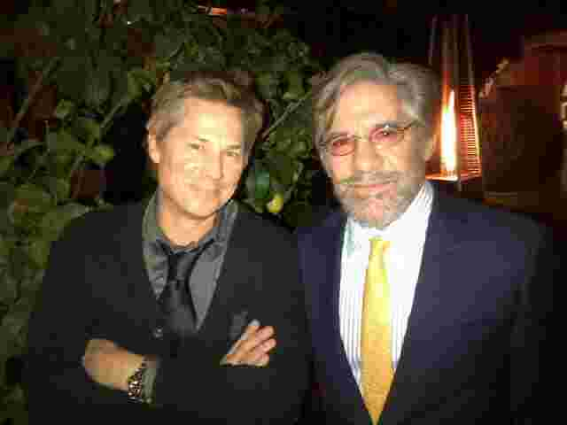 Geraldo with Kato Kaelin during shooting for a Fox News special.