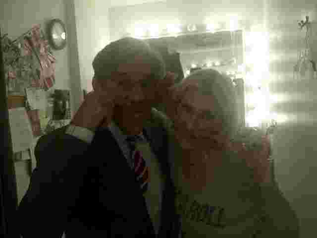 Geraldo with make-up queen Maureen in the green room at Fox News Studios, NYC.
