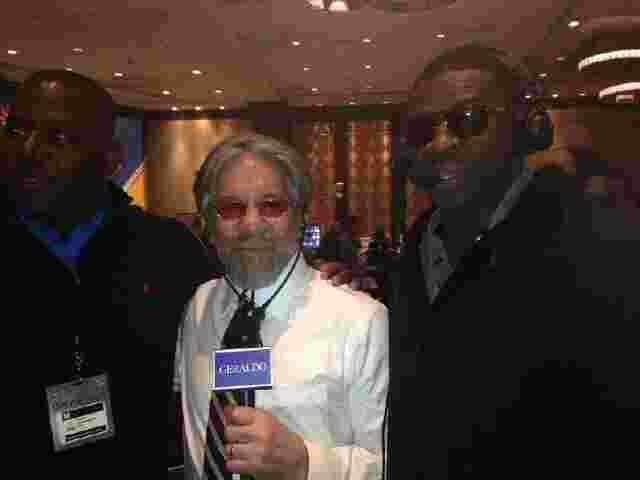 Geraldo on-air with Michael Irvin and Byron Chamberain.