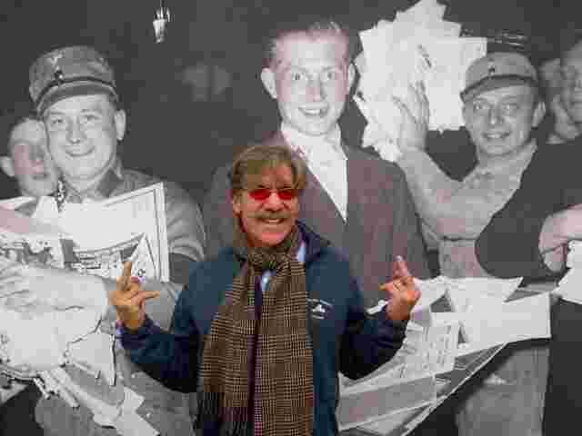 Geraldo appropriately commemorates the Nazis losing Berlin