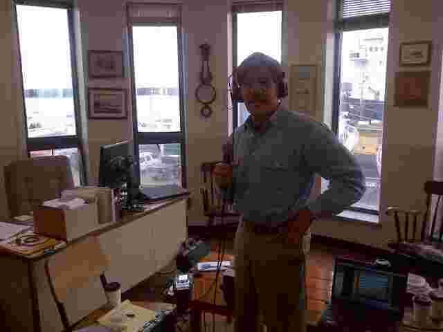 Geraldo broadcast his 77 WABC radio show live from the Maine Maritime Academy in Castine, Maine.