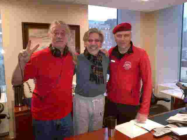 Geraldo with fellow 77 WABC radio hosts Ron Kuby and Curtis Sliwa, Curtis & Kuby.