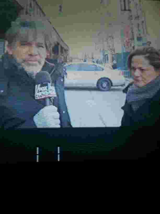 Geraldo with Speaker Melissa Mark-Viverito during the tragic building collapse on 116th street, Harlem, NYC.