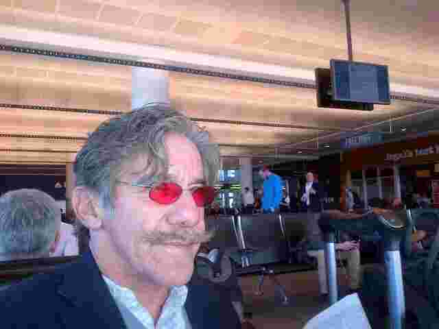 Geraldo waits for the shuttle at airport