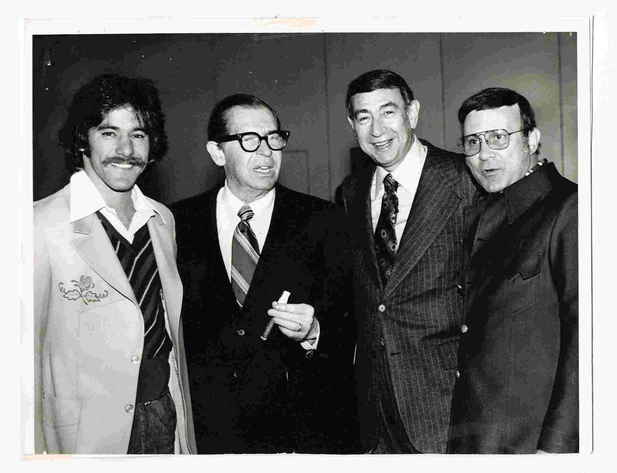 Geraldo with Walter Kronkite and others