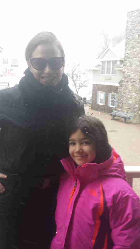 Geraldo's wife Erica and youngest daughter Sol during a trip to Jiminy Peak in March of 2015.