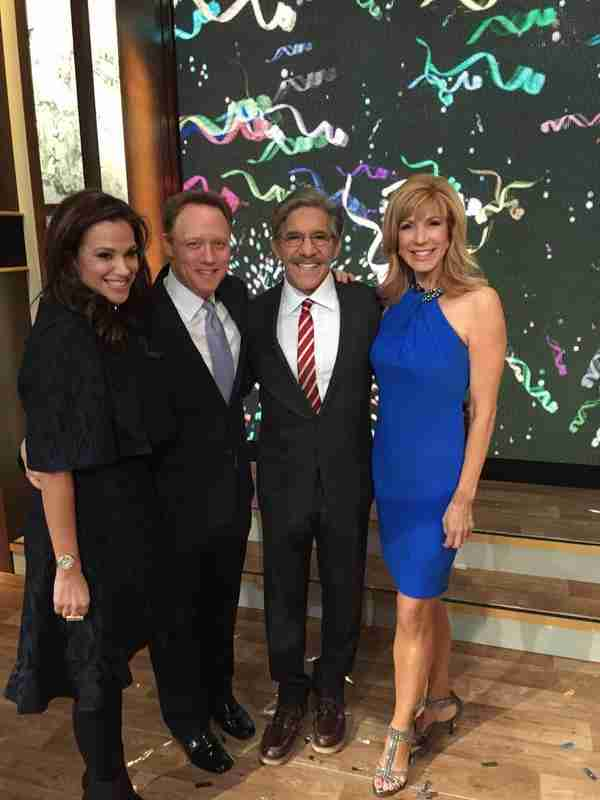 From left; Erica Rivera, Steven, Geraldo, Leeza Gibbons Celebrity Apprentice winner 2015.