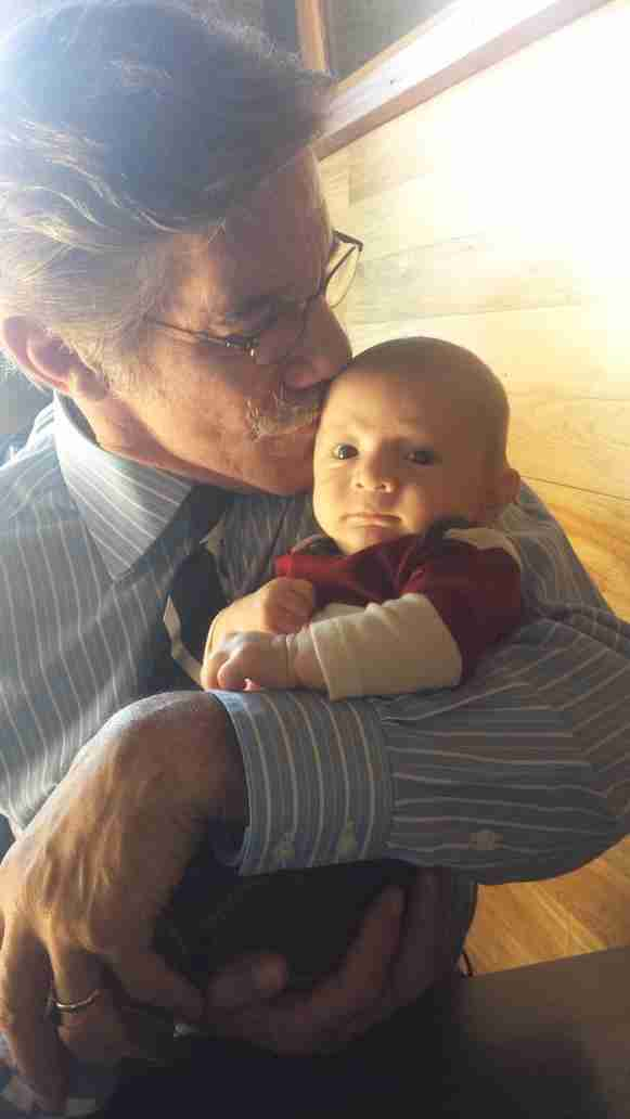 Geraldo with his grandson Desmond, during visit to NYC.