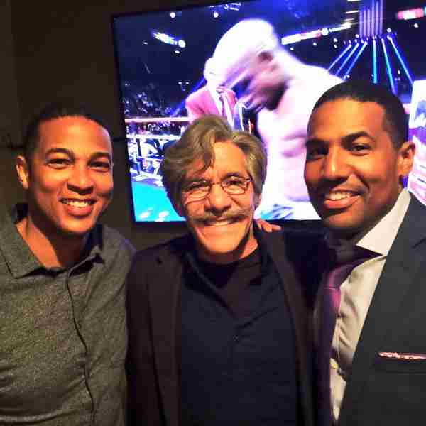 Geraldo with Don Lemon and Joey Jackson