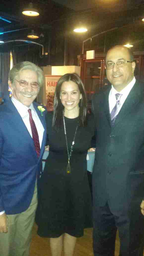 Geraldo and his wife Erica with Consul General, Ambassador Ido Aharoni of Israel.