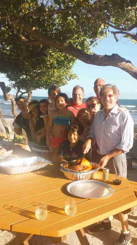 Geraldo with wife Erica and much family on island near Salinas, Puerto Rico.
