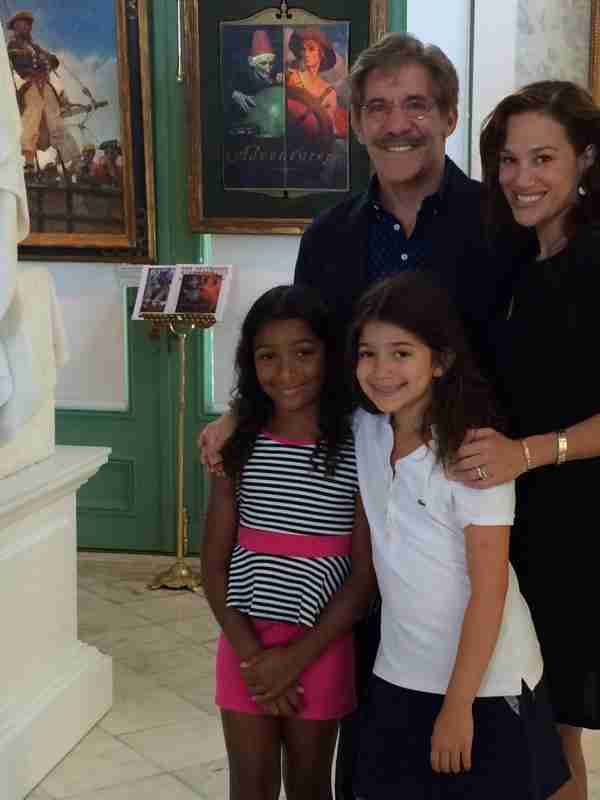 Geraldo, wife Erica, daughter Sol and friend Lola takin in Norman Rockwell's Poetic Adventures.