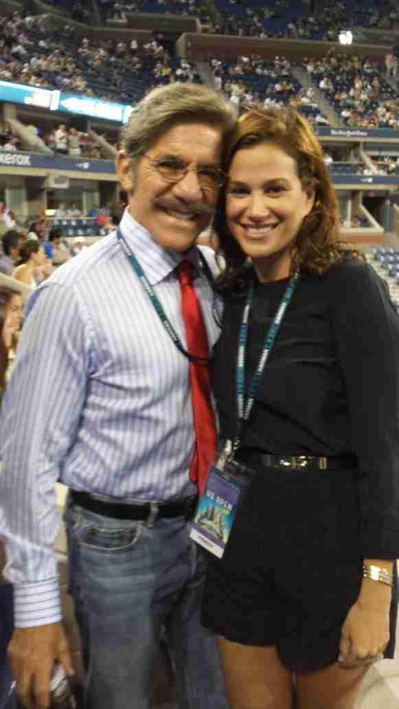 Geraldo and wife Erica at the U.S. Open.