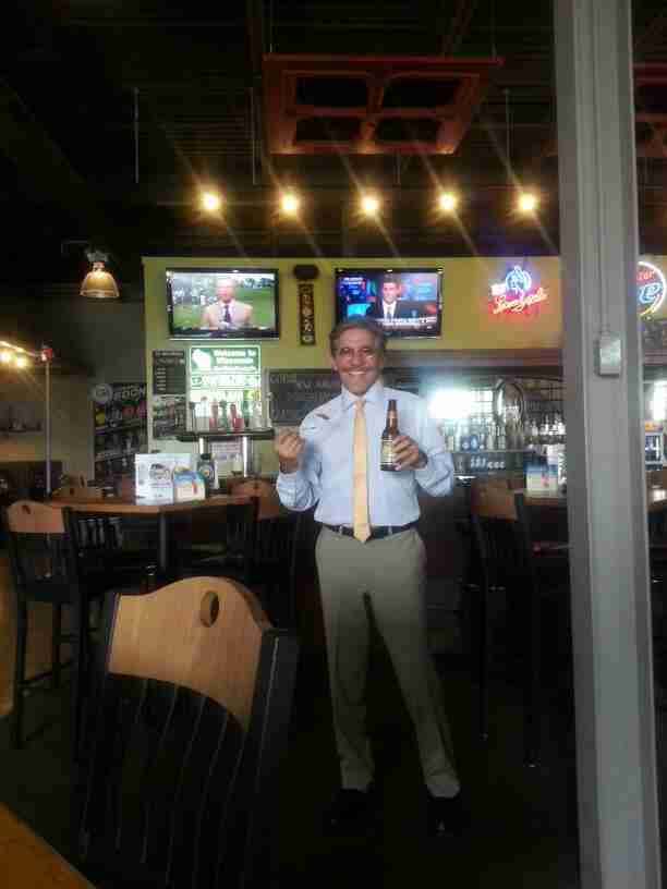 Geraldo at Green Bay Distellery while in the area for a WABC sponsored Job Fair in Wisconsin.