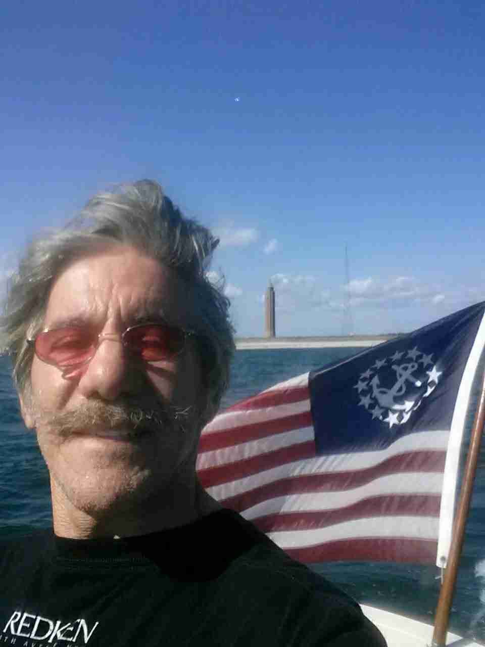 Geraldo on the way home after returning from Fire Island Inlet aboard vessel Belle.