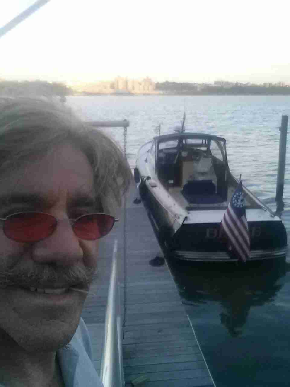 Geraldo at his home in Edgewater, New Jersey, waking up to a morning on the Hudson river with vessel Belle safely on the dock.