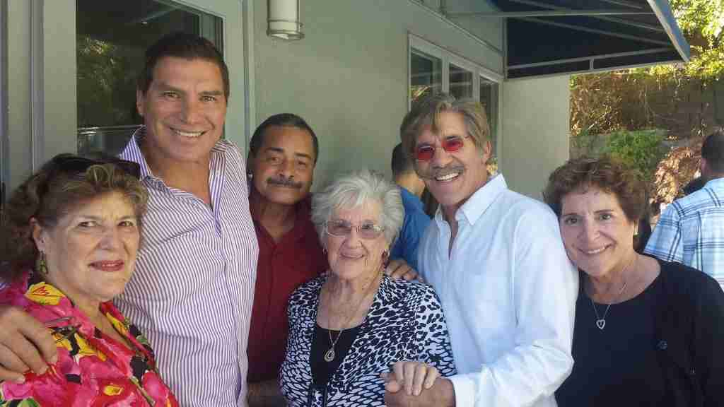 From left; sister Irene, Brother Craig, Brother Wilfredo, Mother Lillian, Geraldo and Sharon Rivera during Grandma Lil's birthday party.