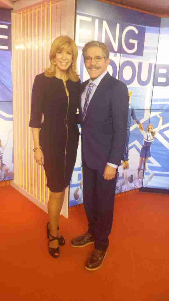 Geraldo with fellow contestant and ultimate winner of Celebrity Apprentice 2015 Leeza Gibbons, during their appearance on The Today Show after finale.