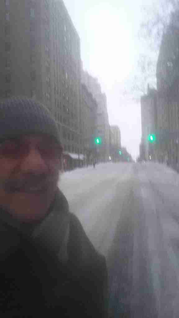 Geraldo shows off Madison Avenue during the Blizzard of 2015, immediately after the travel ban is lifted.