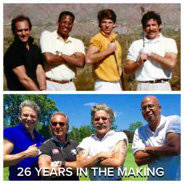 Geraldo with Talk Show mates at the Geraldo Rivera golf classic, 26 years apart, taken in 2015.