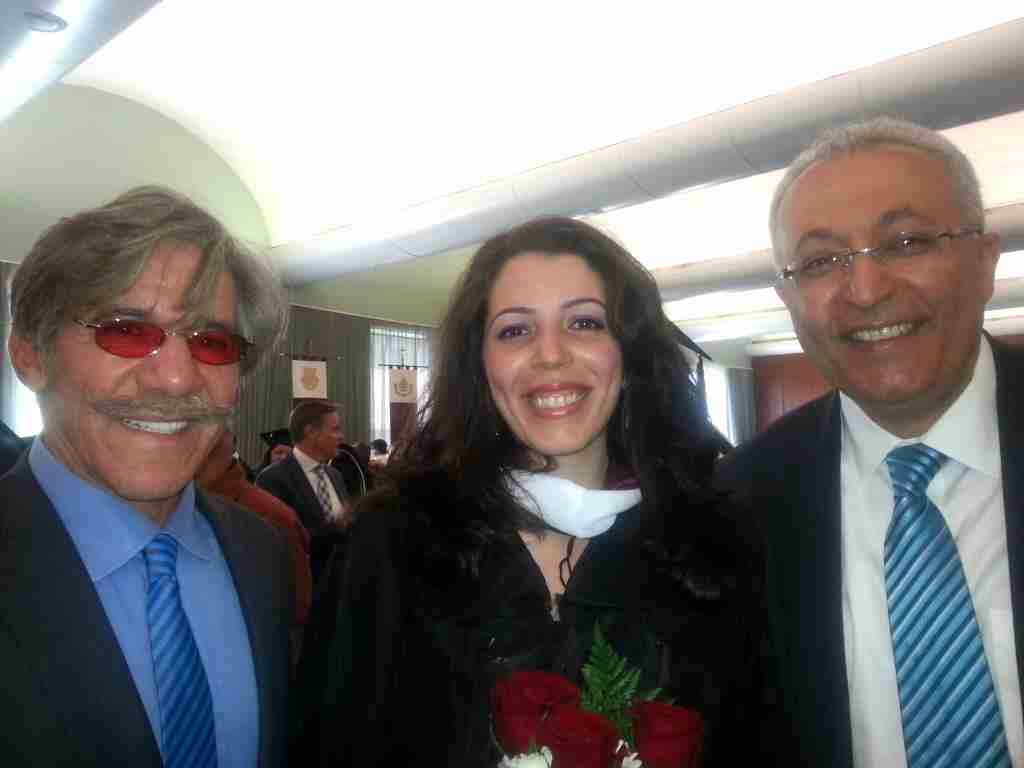 Geraldo with WABC radio producer Mary Elkordy and Mohammed.