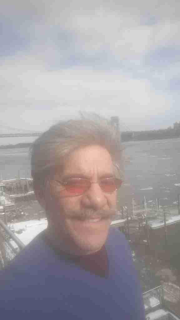 Geraldo with the icy Hudson river in the background.  Taken from his home in Edgewater, New Jersey.