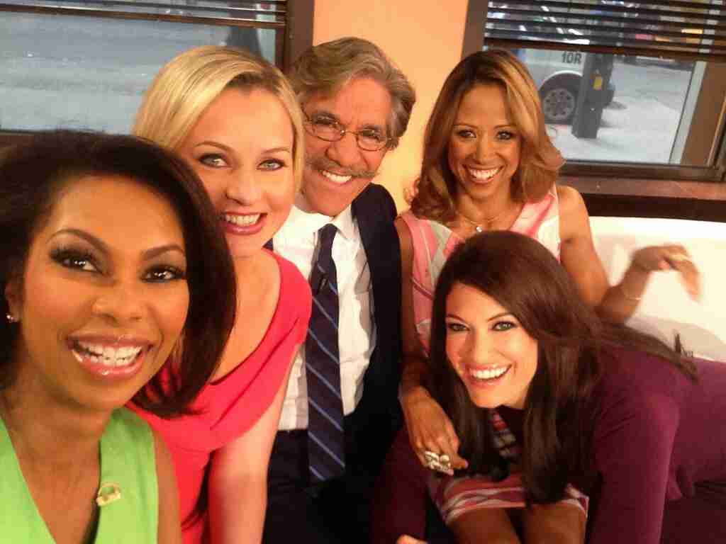Geraldo with the Outnumbered crew on the Fox News Channel including Harris Faulkner and Kimberley Guilfoyle.