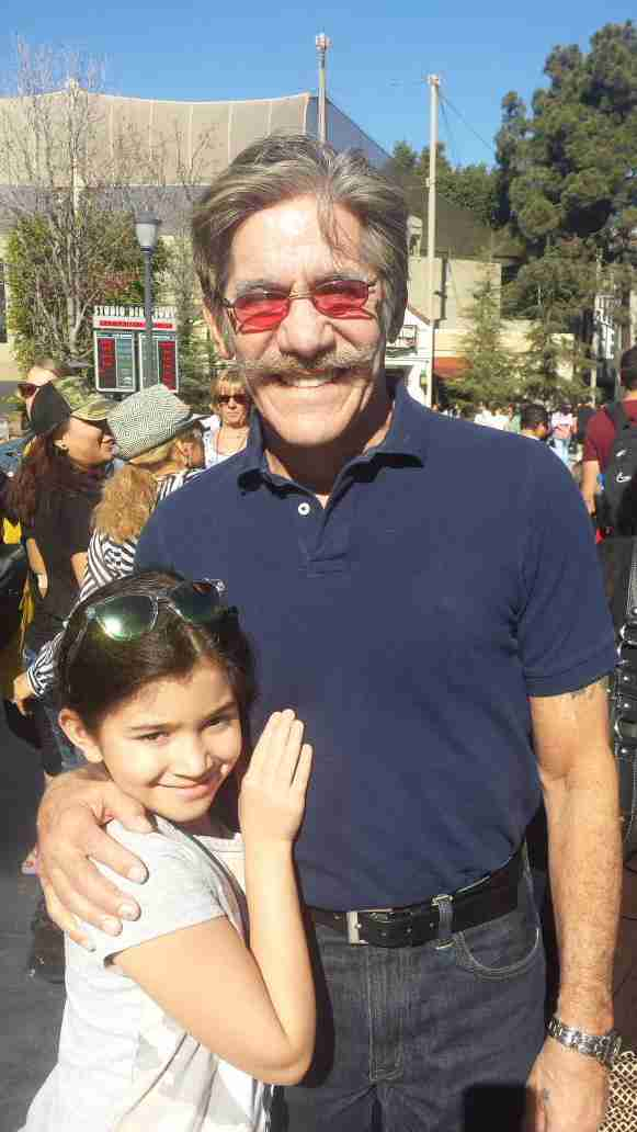 Geraldo with his youngest daughter Sol while at Universal for a viewing of Despicable Me, 2015