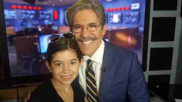 Geraldo with his youngest daughter Sol, in studio.