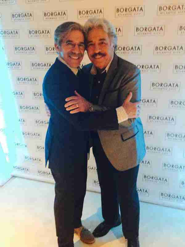Geraldo with friend Tony Orlando during one of his shows.