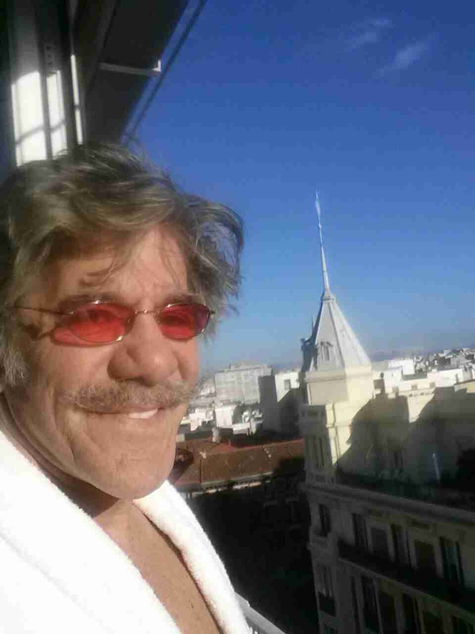 Geraldo greets the morning during a trip to Madrid, Spain.